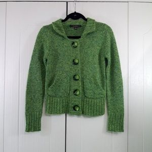 Fever Green Cardigan with pockets Size Small